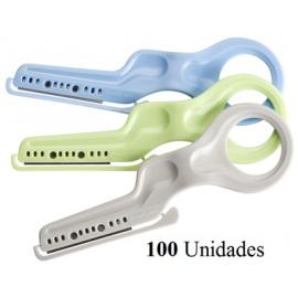 Navaja Desechable 100 Und. + Soporte