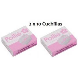 20 Cuchillas Corta Callos Pollie
