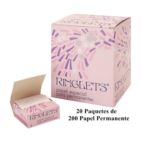 Papel Permanente Ringlets 20 x 200 Und.