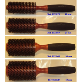 Cepillo redondo pelo de jabali
